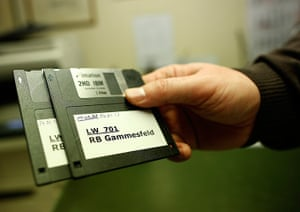 Germany's smallest bank: The latest floppy disks at the bank