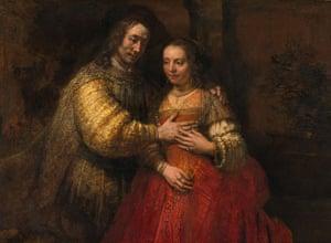 Love artworks: The Jewish Bride (1665) by Rembrandt van Rijn