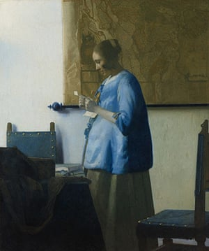 Love artworks: Vermeer's Woman Reading a Letter