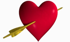 Heart with Cupid's arrow
