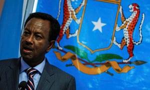 Somalia's Prime Minister Abdi Farah Shiridon