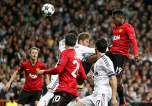 Real v United: Manchester United's Danny Welbeck scores