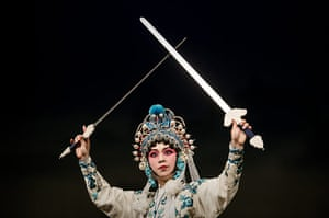 Cantonese opera: An actor performs on stage