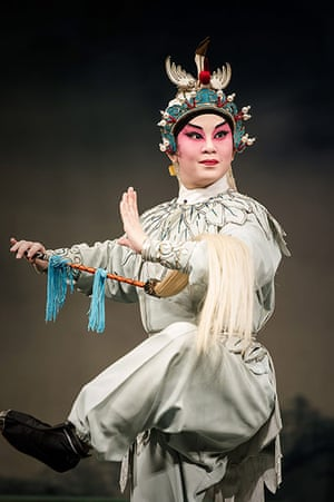 Cantonese opera: An actor on stage