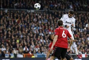 Real v United2: Real Madrid's Portuguese forward Cristiano Ronaldo scores