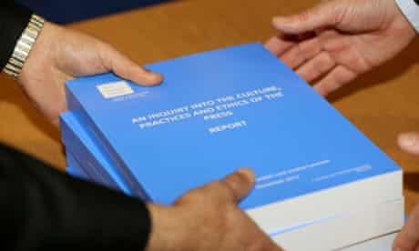 Leveson report into press regulation