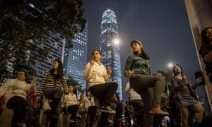 Women dance in Hong Kong to mark One Billion Rising on 14 February 2013.