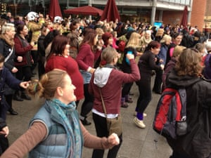 A One Billion Rising event in Norwich.