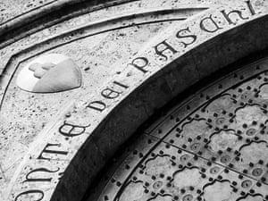 The entrance to scandal-hit Monti dei Paschi, the world's oldest bank. Photograph: EPA/Monte dei Paschi