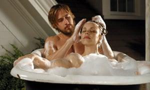 Rachel McAdams with Ryan Gosling in The Notebook.