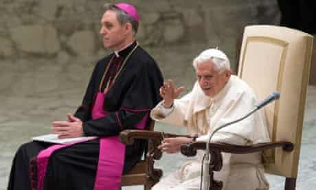 Pope and Georg Gaenswein