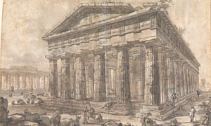 One of Piranesi's Paestum drawings at Sir John Soane's Museum, London