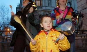 Iraq war protest in London