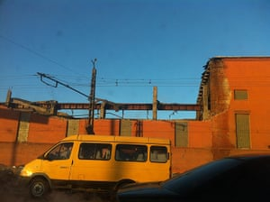 meteorites in Russia: The collapsed roof of a a zinc factory in Chelyabinsk