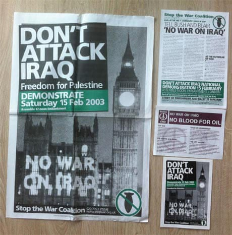 Did you protest against the Iraq invasion?   Open thread