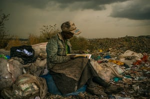WPP: a woman working as a trash picker at the 30-acre rubbish dump in Kenya