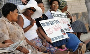 South Africa rape protest