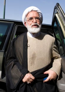 Iranian opposition leader Mehdi Karroubi during the 2009 presidential election campaign