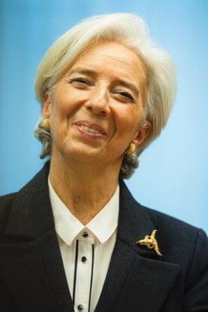 IMF chief Christine Lagarde earlier this week.