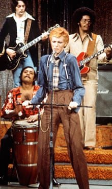 David Bowie performing on the Dick Cavett Show
