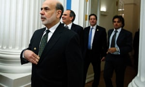 Ben Bernanke, chairman of the U.S. Federal Reserve, enters a hall to attend the summit of financial ministers and heads of central banks of the G20. Photograph: (AP Photo/Alexander Zemlianichenko