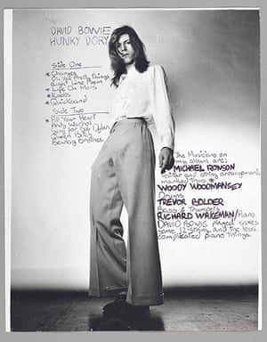 Bowie: Annotated back cover image for Hunky Dory album