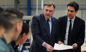 Ed Balls and Ed Miliband in Bedford