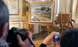 Among the stolen paintings being returned by France is Le Mur Rose, de l'Hôpital d'Ajaccio