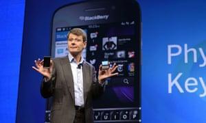 BlackBerry chief executive Thorsten Heins unveils BB10