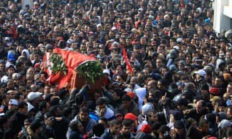 Funeral of murdered Tunisian opposition leader Chokri Belaid