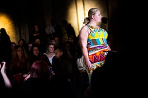 London Plus Size Fashion: A model on the runway