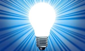 Idea symbol of a light bulb shape