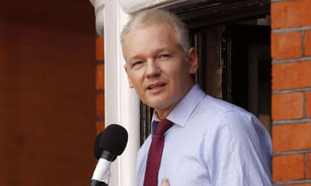 Julian Assange, shown at the Ecuadorean embassy in London