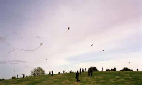 Flying kites on Hampstead Heath