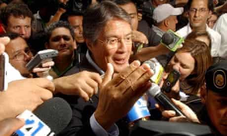 Rafael Correa's rival Guillermo Lasso