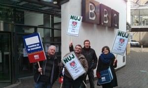 BBC strike in Leeds