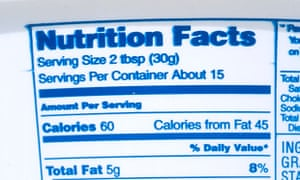 Nutrition information on a sour cream container
