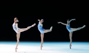 """Members of the Vienna State Opera Ballet perform during """"A Million Kisses to my Skin"""" by David Dawson at the Stage opera house in Vienna. """"A Million Kisses to my Skin"""" is one of four parts of the performance dance perspectives which will premiere on February 20. Photograph: Herwig Prammer/Reuters"""