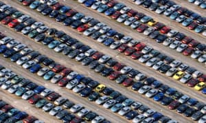 lots of cars in a car park