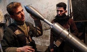 Free Syrian Army mortar Aleppo