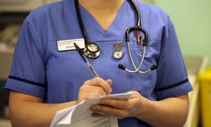 Nurse with paperwork