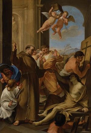 Art Fund: Andrea Sacchi, Saint Anthony Abbot reviving a Dead Man