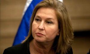 Tzipi Livni Israel Knesset