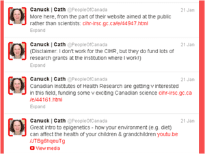 CIHR Epigenetics tweets