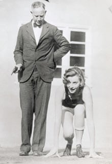 Greta Garbo training with Coach Dean Cromwell of the University of Southern California in 1940's