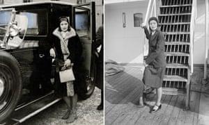Greta Garbo travelling