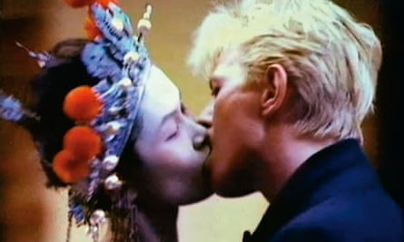 David Bowie with Geeling Ng in the China Girl video