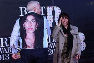Brits 2013 red carpet: The parents of late British singer-songw