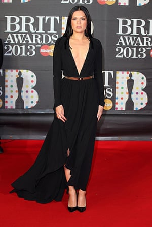 Brit Awards: Obviously Jessie J is going to put her bra on later