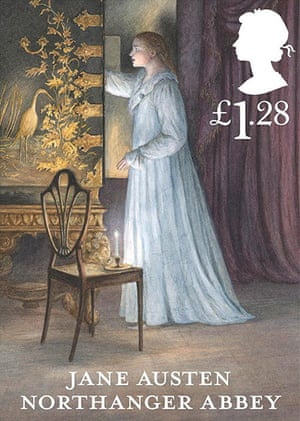 Jane Austen stamps: Jane Austen Northanger Abbey £1.28 stamp